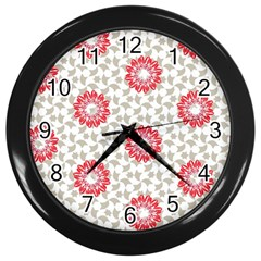Stamping Pattern Fashion Background Wall Clocks (black)