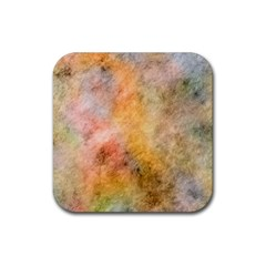 Texture Pattern Background Marbled Rubber Square Coaster (4 Pack)
