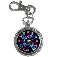 Abstract Art Color Design Lines Key Chain Watches