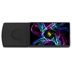 Abstract Art Color Design Lines Rectangular Usb Flash Drive