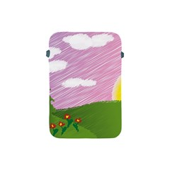Pine Trees Sunrise Sunset Apple Ipad Mini Protective Soft Cases by Celenk