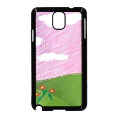 Pine Trees Sunrise Sunset Samsung Galaxy Note 3 Neo Hardshell Case (black) by Celenk