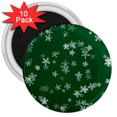 Template Winter Christmas Xmas 3  Magnets (10 Pack)