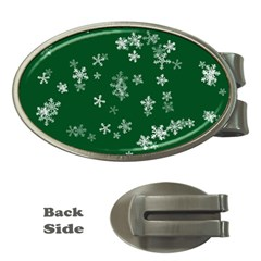 Template Winter Christmas Xmas Money Clips (oval)  by Celenk