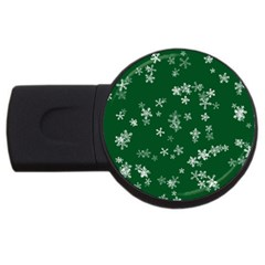 Template Winter Christmas Xmas Usb Flash Drive Round (4 Gb)