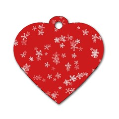 Template Winter Christmas Xmas Dog Tag Heart (one Side) by Celenk