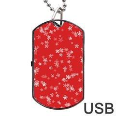 Template Winter Christmas Xmas Dog Tag Usb Flash (one Side) by Celenk