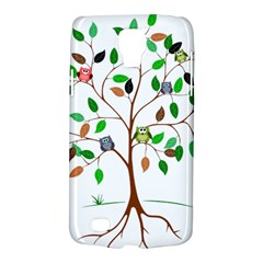Tree Root Leaves Owls Green Brown Galaxy S4 Active by Celenk