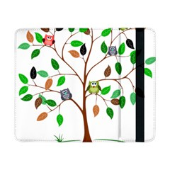 Tree Root Leaves Owls Green Brown Samsung Galaxy Tab Pro 8 4  Flip Case by Celenk