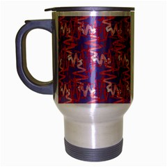 Pattern Abstract Squiggles Gliftex Travel Mug (silver Gray) by Celenk