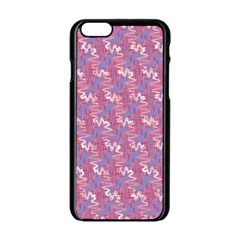 Pattern Abstract Squiggles Gliftex Apple Iphone 6/6s Black Enamel Case by Celenk