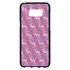 Pattern Abstract Squiggles Gliftex Samsung Galaxy S8 Plus Black Seamless Case