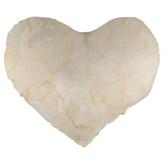 Rock Tile Marble Structure Large 19  Premium Flano Heart Shape Cushions by Celenk