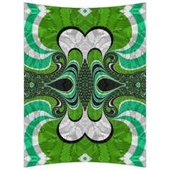 Fractal Art Green Pattern Design Back Support Cushion by Celenk