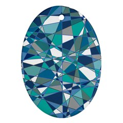 Abstract Background Blue Teal Ornament (oval) by Celenk