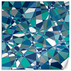 Abstract Background Blue Teal Canvas 20  X 20