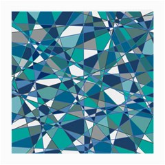 Abstract Background Blue Teal Medium Glasses Cloth (2 Side) by Celenk