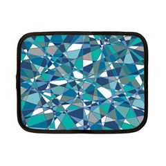 Abstract Background Blue Teal Netbook Case (small)