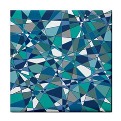 Abstract Background Blue Teal Face Towel