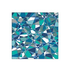 Abstract Background Blue Teal Satin Bandana Scarf