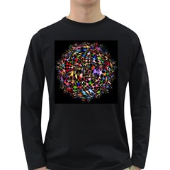 Network Integration Intertwined Long Sleeve Dark T Shirts