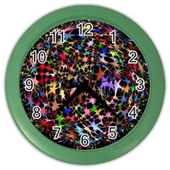Network Integration Intertwined Color Wall Clocks