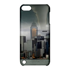 Tornado Storm Lightning Skyline Apple Ipod Touch 5 Hardshell Case With Stand by Celenk