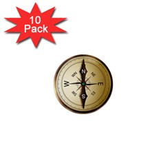 Compass North South East Wes 1  Mini Magnet (10 Pack)  by Celenk