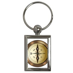 Compass North South East Wes Key Chains (rectangle)