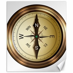 Compass North South East Wes Canvas 8  X 10
