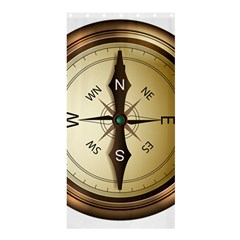 Compass North South East Wes Shower Curtain 36  X 72  (stall)  by Celenk
