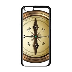 Compass North South East Wes Apple Iphone 6/6s Black Enamel Case by Celenk