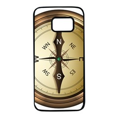 Compass North South East Wes Samsung Galaxy S7 Black Seamless Case