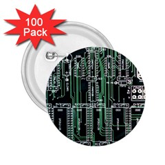 Printed Circuit Board Circuits 2 25  Buttons (100 Pack)