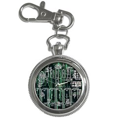 Printed Circuit Board Circuits Key Chain Watches by Celenk