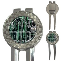 Printed Circuit Board Circuits 3 In 1 Golf Divots by Celenk