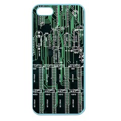 Printed Circuit Board Circuits Apple Seamless Iphone 5 Case (color) by Celenk