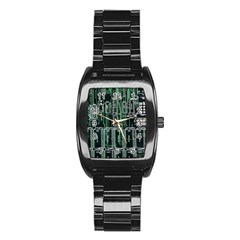 Printed Circuit Board Circuits Stainless Steel Barrel Watch by Celenk