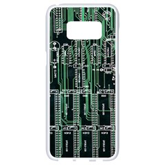 Printed Circuit Board Circuits Samsung Galaxy S8 White Seamless Case by Celenk