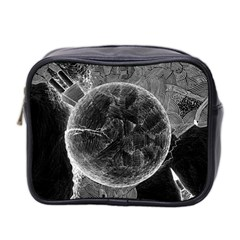 Space Universe Earth Rocket Mini Toiletries Bag 2 Side by Celenk
