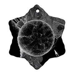Space Universe Earth Rocket Snowflake Ornament (two Sides)