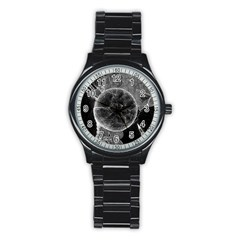 Space Universe Earth Rocket Stainless Steel Round Watch by Celenk