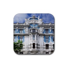Squad Latvia Architecture Rubber Coaster (square)  by Celenk