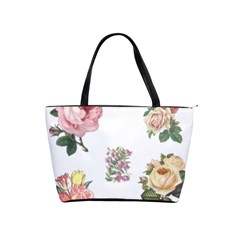 Rose Flowers Campanula Bellflower Shoulder Handbags by Celenk