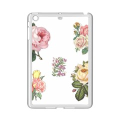 Rose Flowers Campanula Bellflower Ipad Mini 2 Enamel Coated Cases by Celenk