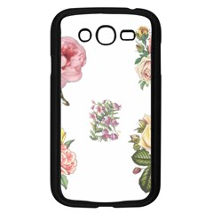 Rose Flowers Campanula Bellflower Samsung Galaxy Grand Duos I9082 Case (black) by Celenk