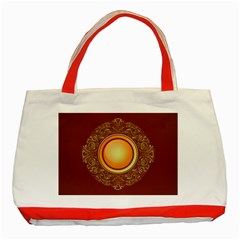 Badge Gilding Sun Red Oriental Classic Tote Bag (red)