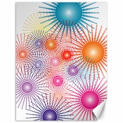 Stars Fireworks Colors Canvas 12  X 16   by Celenk