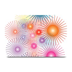 Stars Fireworks Colors Plate Mats