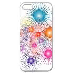 Stars Fireworks Colors Apple Seamless Iphone 5 Case (clear)